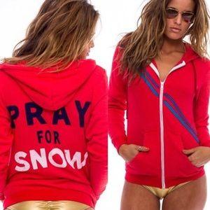 aviator nation pray for snow hoodie